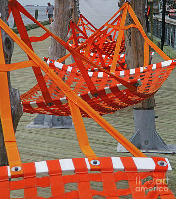 Photograph - Dock Hammocks 2 by Randall Weidner