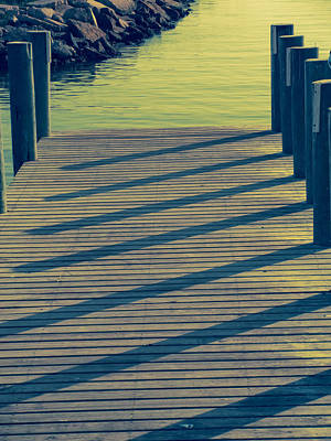 Photograph - Dock In Green Shadows by Tony Grider