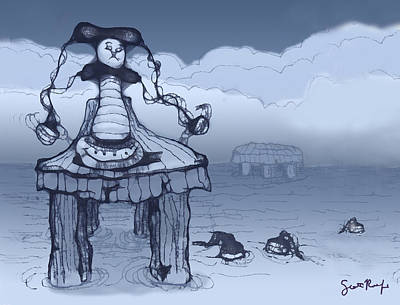 Cartoon Digital Art - Dock Jester by Scott Rolfe