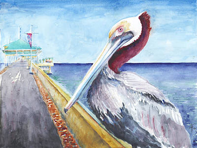 Art Print featuring the painting Dock Master by Arthur Fix