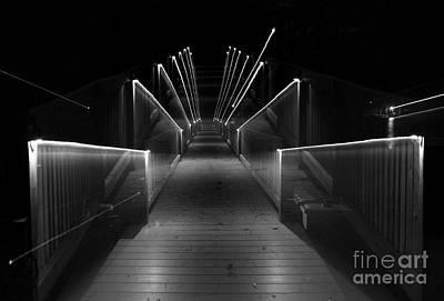 Dock Night Lights Print by Skip Willits