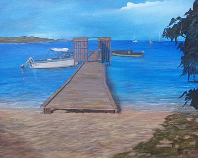 Painting - Dock On The Beach by Tony Rodriguez