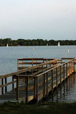 Photograph - Dock On The Lake by Ron Read