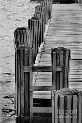 Photograph - Dock On The Potomac by E B Schmidt