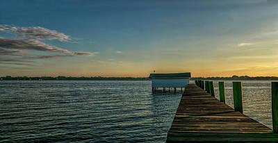 Photograph - Dock Panorama by Nancie Rowan