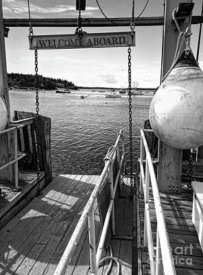 Photograph - Dock, Port Clyde, Maine  -2043-ip-bw by John Bald