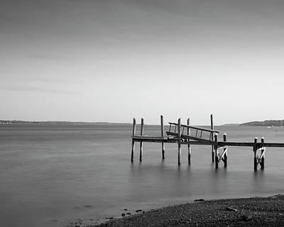 Photograph - Dock Portsmouth Ri I Bw by David Gordon