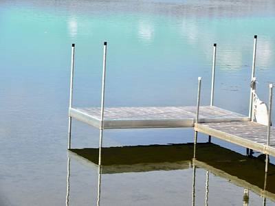 Photograph - Dock Reflections by Stephanie Moore