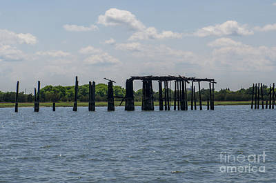 Photograph - Dock Repair by Dale Powell