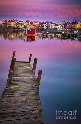 Crooked Photograph - Dock Serenity by Inge Johnsson