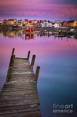 Dock Serenity Art Print by Inge Johnsson
