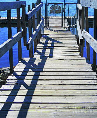 Photograph - Dock Shadows by Randall Weidner