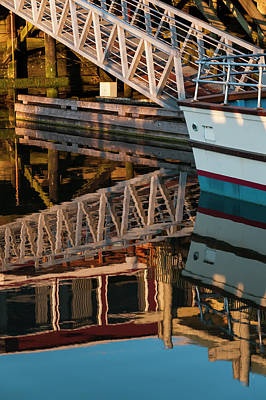 Photograph - Dock Side Reflections by Robert Potts