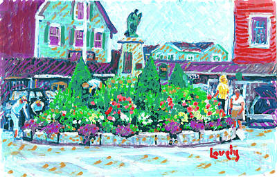 Painting - Dock Square Gardeners by Candace Lovely