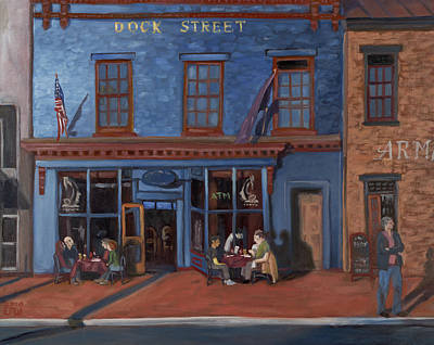 Dock Street-annapolis Art Print by Edward Williams