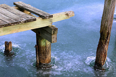 Photograph - Dock To Nowhere In Ice 2017 by Mary Bedy