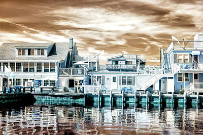 Photograph - Dock View Infrared At Long Beach Island by John Rizzuto