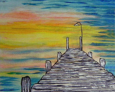 River View Painting - Dock by W Gilroy