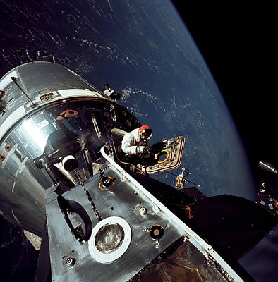 Space Exploration Photograph - Docked Apollo 9 Command And Service by Stocktrek Images
