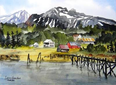 Docked At Haines Alaska Art Print