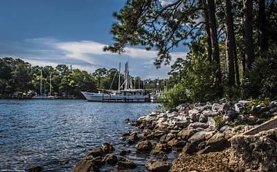 Photograph - Docked At Watson Bayou  by Debra Forand