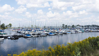 Photograph - Docked Boats In The Harbour by Josef Pittner