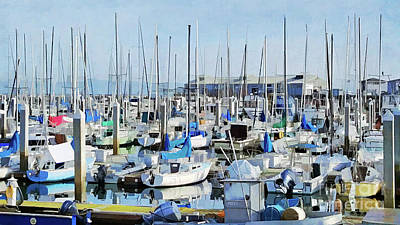 Photograph - Docked Boats by Roberta Byram