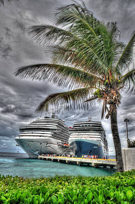 Photograph - Docked Cruise Ships by Don Wolf