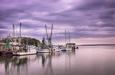 Shem Creek Photograph - Docked  by Drew Castelhano