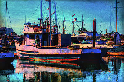 Photograph - Docked Fishing Boat by Garry Gay