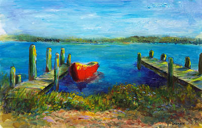 Painting - Docked For The Day by Laurie Samara-Schlageter