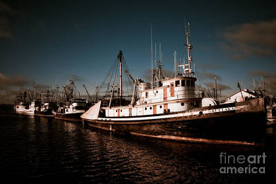 Docked For The Day Art Print