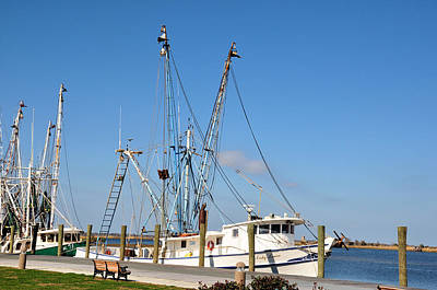 Photograph - Docked In Apalachicola by Jan Amiss Photography