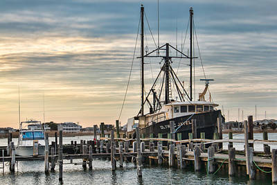 Photograph - Docked In Barnegat Light by Kristia Adams
