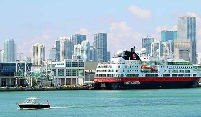 Photograph - Docked In Port Of Miami by Art Block Collections