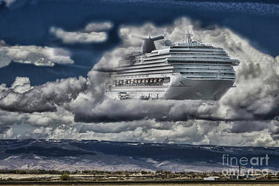 Photograph - Docked In The Clouds by Steven Parker