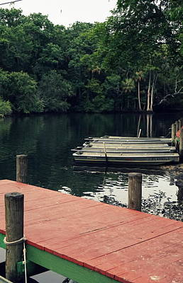 Photograph - Docked On The Chassahowitzka by Laurie Perry