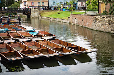 Photograph - Docked Punts by Jean Noren