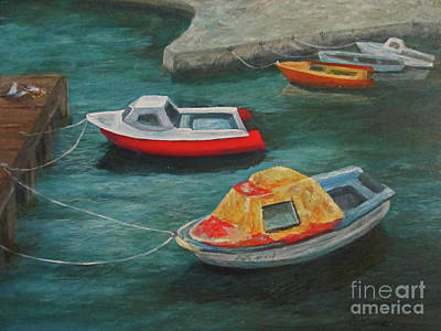 Painting - Docked by Roseann Gilmore