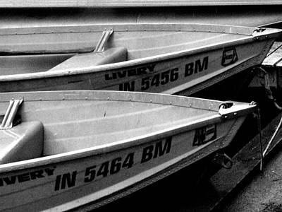 Indiana Landscapes Photograph - Docked Rowboats by Michael L Kimble