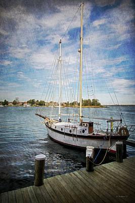 Docked Sailboat - St. Michaels Md Art Print