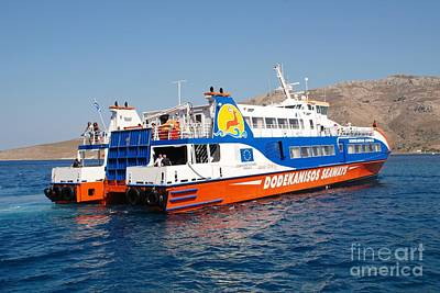Photograph - Docking Ferry On Tilos by David Fowler