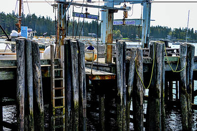Photograph - Docks In Port Clyde, Maine by Marilyn Burton