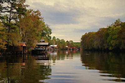 Photograph - Docks On The Bayou by Lana Trussell