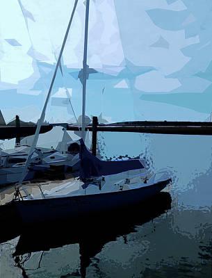 Digital Art - Dockside No. 2 by Gina Harrison
