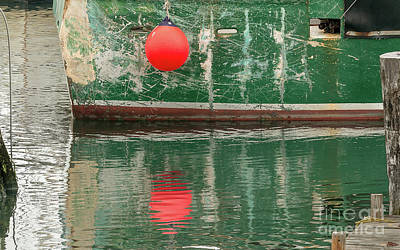 Photograph - Dockside Abstract by Mim White