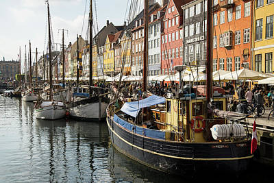 Photograph - Dockside At Nyhavn by Eric Nielsen