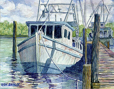 Painting - Dockside by Don Bosley