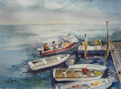 Dockside Art Print by Dorothy Herron