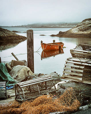 Photograph - Dockside In Peggys Cove by Carolyn Derstine